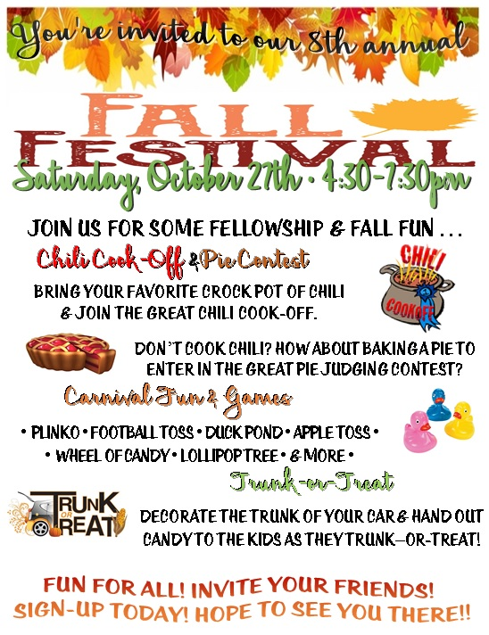 Fall Festival 2018 updated